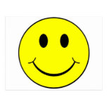 smiley face post card