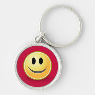 Smiley Face Premium Keychain (Red)