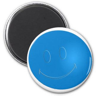 SMILEY FACE RACQUET BALL 6 CM ROUND MAGNET