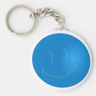 SMILEY FACE RACQUET BALL BASIC ROUND BUTTON KEY RING