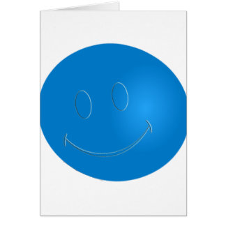 SMILEY FACE RACQUET BALL GREETING CARD