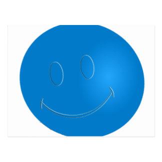SMILEY FACE RACQUET BALL POSTCARD