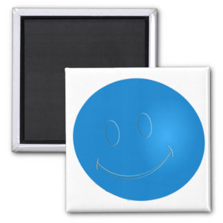 SMILEY FACE RACQUET BALL SQUARE MAGNET