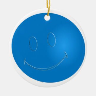 SMILEY FACE RACQUETBALL / RACQUETBALL IS MY DRUG CHRISTMAS ORNAMENT