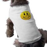 Smiley Face Sleeveless Dog Shirt
