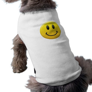 Smiley Face Sleeveless Dog Shirt