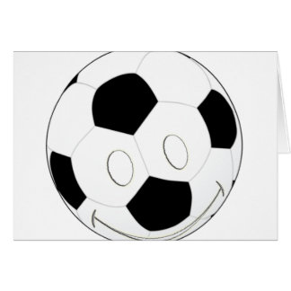 SMILEY FACE SOCCER BALL GREETING CARD