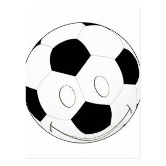 SMILEY FACE SOCCER BALL POSTCARD