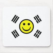 Smiley Face South Korean Flag Mousemat