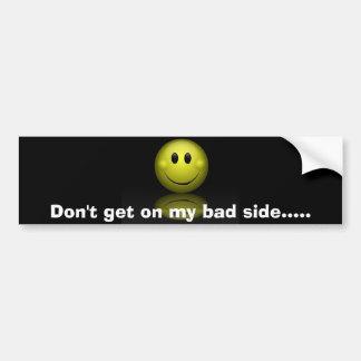 Smiley face sticker bumper stickers