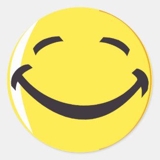 Smiley face sticker! round sticker