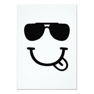 Smiley face sunglasses 9 cm x 13 cm invitation card