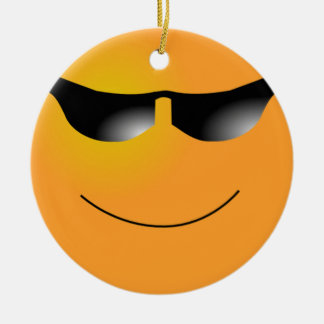 Smiley Face Sunglasses Ornament