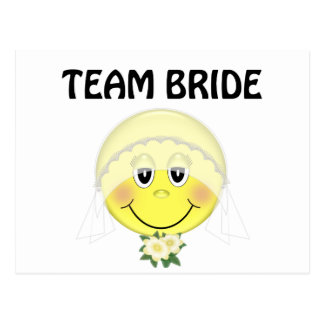 Smiley Face Team Bride Post Cards