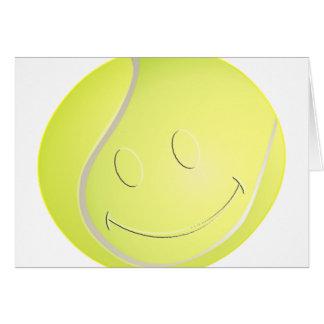 SMILEY FACE TENNIS BALL CARD