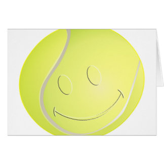 SMILEY FACE TENNIS BALL GREETING CARD