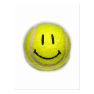 Smiley Face Tennis Ball Postcard