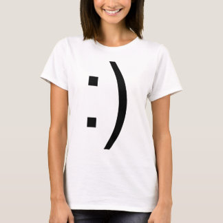 Smiley Face Text T-Shirt