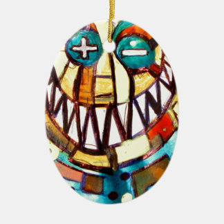smiley face & the T Christmas Ornament