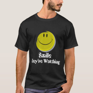Smiley-face, They're Watching, Smile T-Shirt