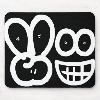Smiley Face V Finger (Dark) Mousepad