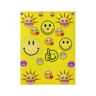 Smiley face yellow poster for children's bedrooms