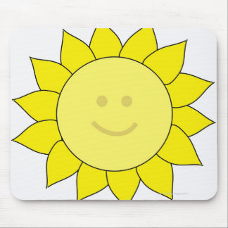 Smiley-Faced Sunflower Mouse Mat