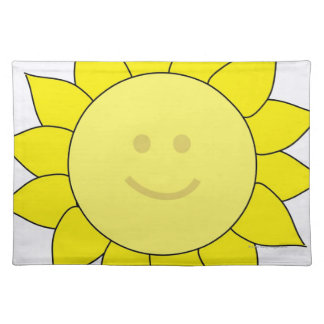 Smiley-Faced Sunflower Placemat