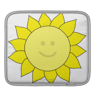 Smiley-Faced Sunflower Sleeve For iPads