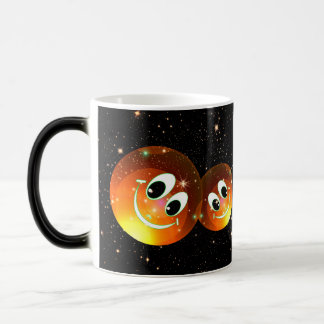 Smiley Faces In The Night Sky Magic Mug
