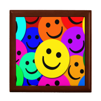 Smiley Faces Large Square Gift Box