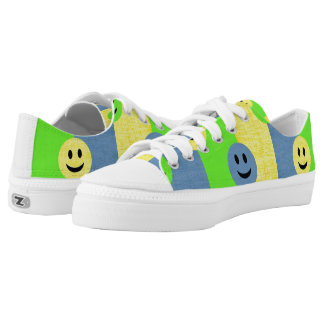 Smiley Faces Low Tops Zipz Sneakers Shoes