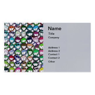 Smiley Faces Pattern Pack Of Standard Business Cards