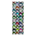 Smiley Faces Pattern Poster