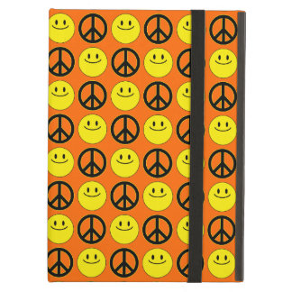 Smiley Faces & Peace Signs Cover For iPad Air