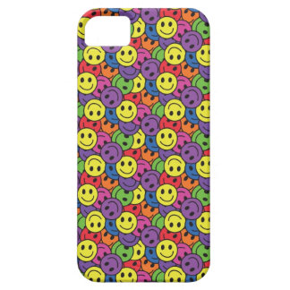 Smiley Faces Retro Hippy Pattern iPhone 5 Cases