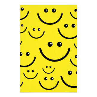 Smiley Faces Stationery Design