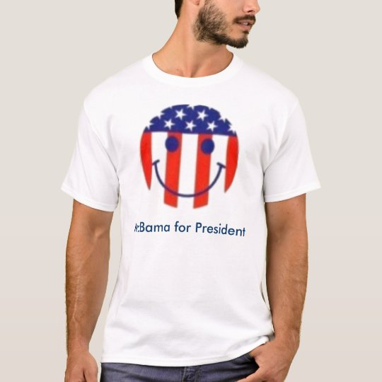 smiley flag, McBama for President T-Shirt