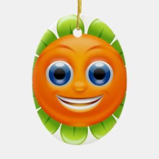 Smiley flower christmas ornament