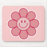 Smiley Flower Mousepad (Pink)