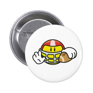 Smiley Football 6 Cm Round Badge