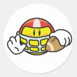 Smiley Football Round Sticker