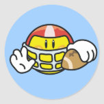 Smiley Football T-shirts and Gifts Round Sticker