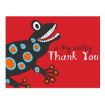 Smiley Frog Thank You Card Postcard