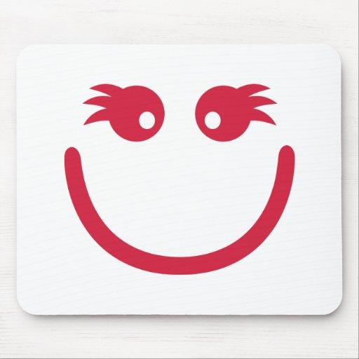 Smiley girl face mousepad