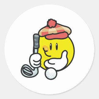 Smiley Golf Sticker