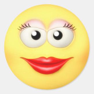 Smiley Grrl Sticker