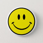 Smiley Happiness Face 6 Cm Round Badge