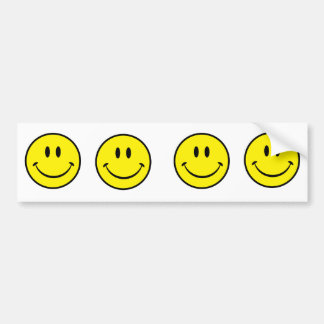 Smiley Happiness Face Bumper Sticker