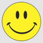 Smiley Happiness Face Classic Round Sticker